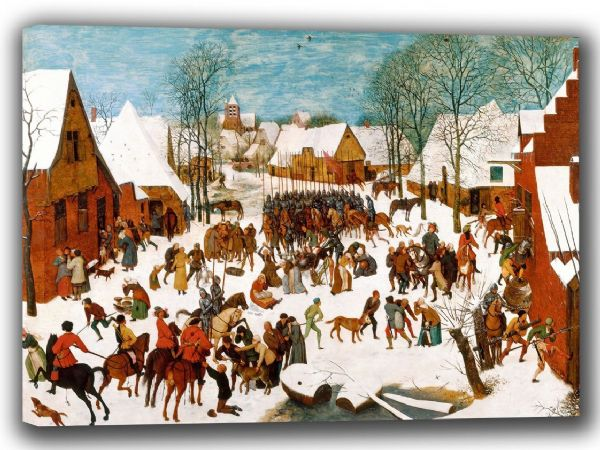 Bruegel the Elder, Pieter: The Massacre of the Innocents. Fine Art Canvas. Sizes: A4/A3/A2/A1 (002007)